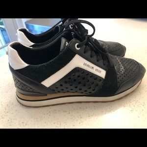 Micheal Kors black and white sneakers size 10